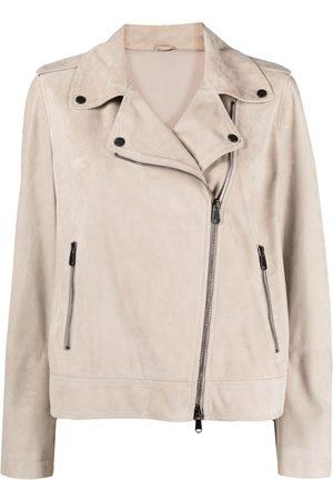 Brunello Cucinelli Leather Jacket- Woman