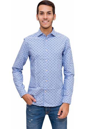Emporio Armani Men Tops - Camicia in cotone con micro aquile all over