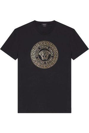 VERSACE Medusa Crystal-Embellished Short-Sleeve T-Shirt