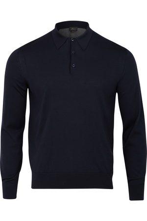 BRIONI Men Polo Shirts - Split Back Polo (Midnight / Grey)