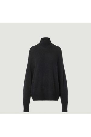 Samsøe Samsøe Jaci high collar loose sweater Black mel. Samsoe - Samsoe