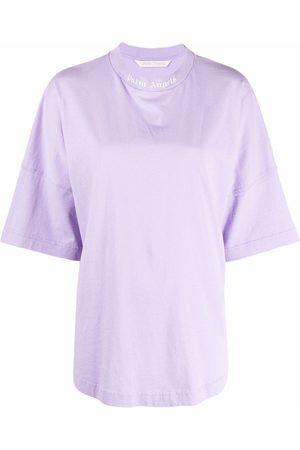 Palm Angels WOMEN Logo Print High Neck T-Shirt