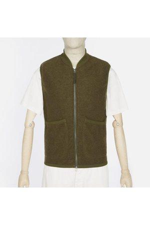 Universal Works Wool Fleece Zip Waistcoat - Olive