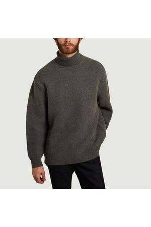 Samsøe Samsøe Men Turtlenecks - Colton turtleneck relax fit wool and cotton sweater Dark grey mel. Samsoe - Samsoe