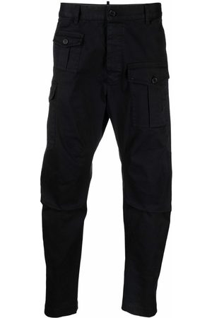 Dsquared2 Cropped cargo trousers Navy