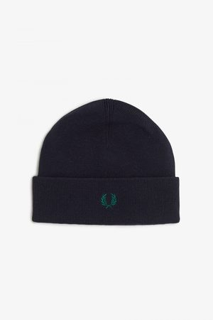 Fred Perry Men Beanies - Fred Perry Merino Wool Beanie - Navy