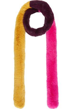 Nooki Women Scarves - Pasha Fur Scarf - Bright Pink Mix