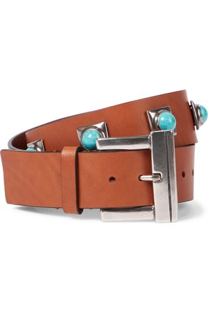 Etro Crown Me studded leather belt