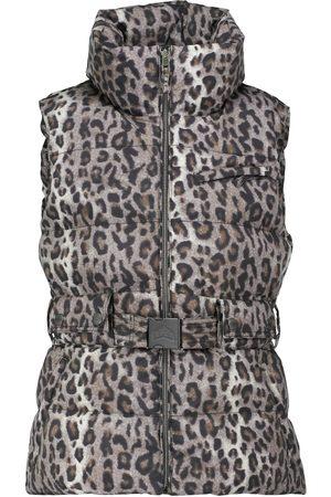 JET SET Women Gilets - Leopard-print belted ski vest