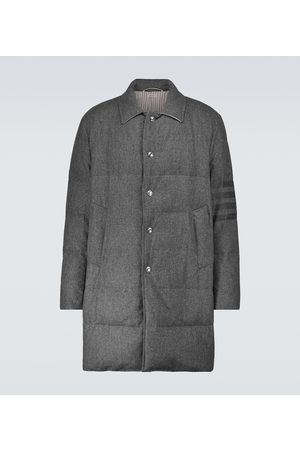 Thom Browne Down-filled wool-blend overcoat