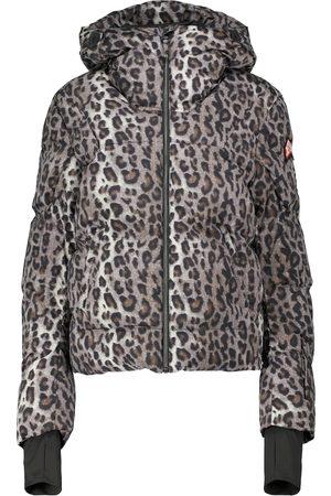 JET SET Women Ski Suits - Julia leopard-print ski jacket
