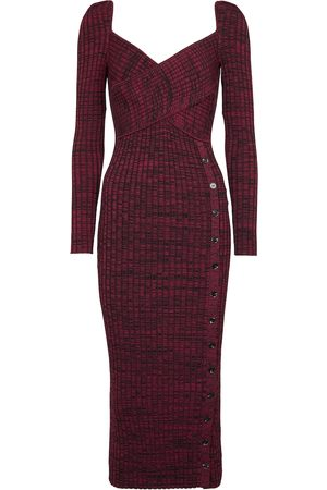 Self-Portrait Women Knitted Dresses - Ribbed-knit midi dress