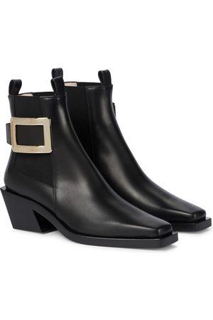 Roger Vivier Belle Vivier 55 leather Chesea boots
