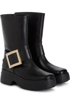 Roger Vivier Women Ankle Boots - Viv' Rangers leather ankle boots