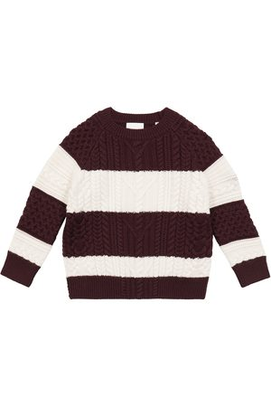 Burberry Striped wool-blend cable-knit sweater