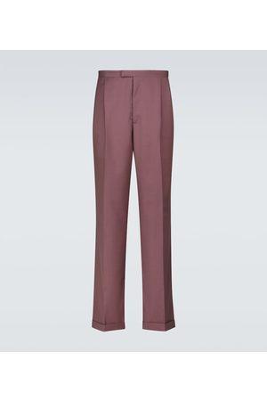 Winnie New York Men Formal Pants - Pleated wool pants