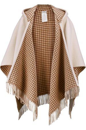 Fendi Women Scarves - Wool and cashmere logo poncho