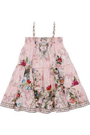 Camilla Baby Printed Dresses - Embellished floral cotton dress