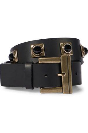 Etro Women Belts - Crown Me studded leather belt