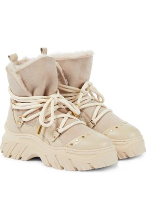 INUIKII Leather and suede hiking boots