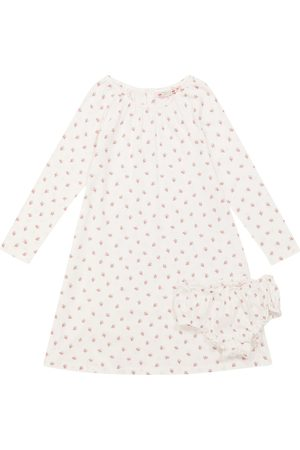 BONPOINT Printed cotton nightgown and bloomers set