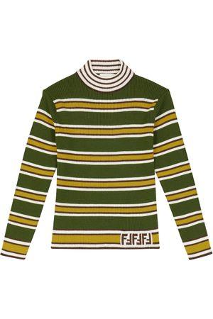 Fendi Striped wool turtleneck sweater