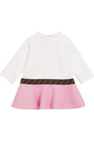 Fendi Baby Sweatshirts - Baby cotton sweatshirt dress