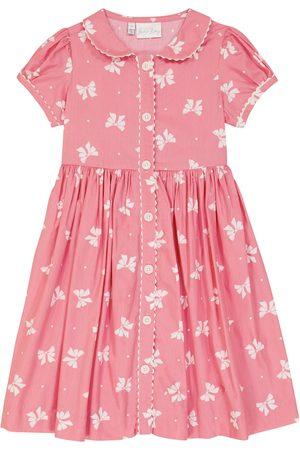 Rachel Riley Bow printed cotton dress