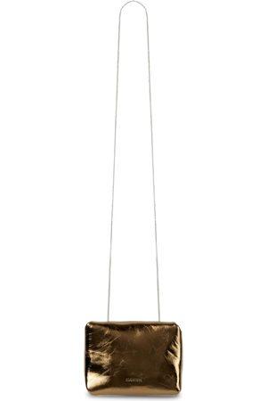 Jil Sander Metallic leather clutch