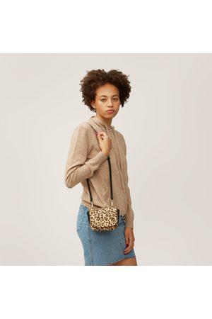 Nooki Women Purses - Portia Necklace Bag - Black Leo