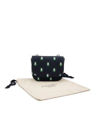 Nooki Portia Necklace Bag - Black Bug