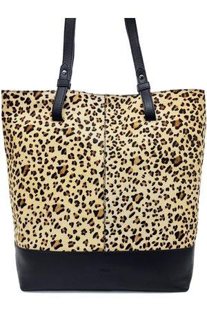 Nooki Daley Leather Shopper - Black Leopard