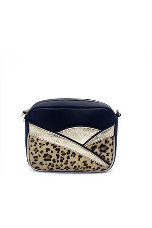Nooki Women Purses - Calli Crossbody Bag - Black Leopard