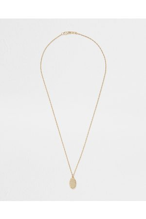 Men Necklaces - River Island Mens Gold colour weaved dogtag necklace