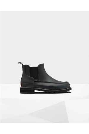 Hunter Men Chelsea Boots - Men's Refined Moc Toe Chelsea Boots Shoe 6