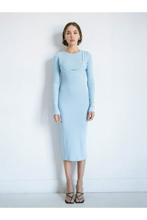 The Line By K The Abdiel Dress in Powder Blue