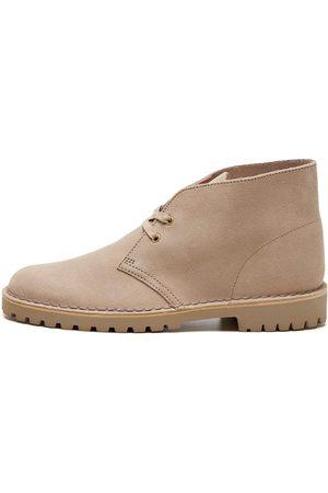 Clarks Men Lace-up Boots - Desert Rock Boots - Sand Suede
