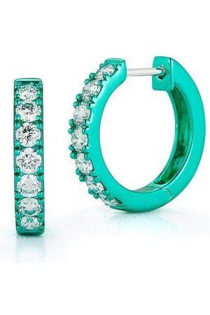 Katherine Jetter Women Diamond Emerald Mini Huggies