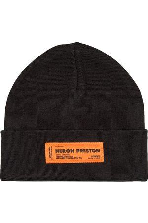Heron Preston Men Beanies - Logo Patch Beanie