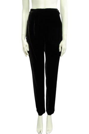 ANNA MOLINARI Velvet straight pants