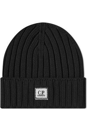 C.P. Company Men Beanies - Patch Logo Beanie