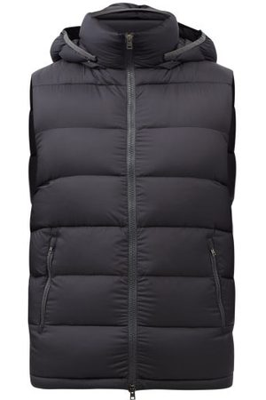HERNO Hooded Quilted Down Gilet - Mens