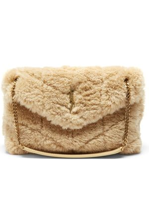Saint Laurent Loulou Small Quilted Shearling Shoulder Bag - Womens