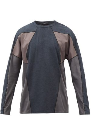 Greater than A Cold-Wll* - Flight Long-sleeve Pnelled Technicl Jersey Top - Mens - Nvy