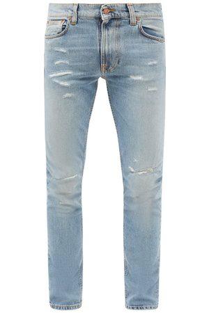 Nudie Jeans Lean Dean Distressed Slim-leg Jeans - Mens