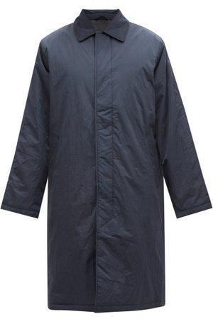 Sunflower Men Coats - Relaxed Tumbled Nylon-shell Overcoat - Mens - Dark Navy
