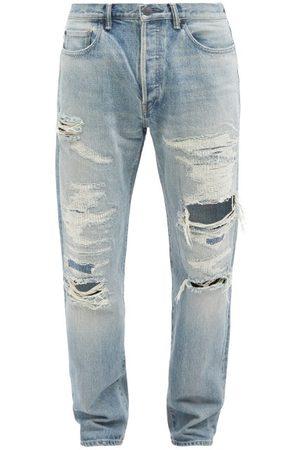 JOHN ELLIOTT The Daze Grace Distressed Straight-leg Jeans - Mens
