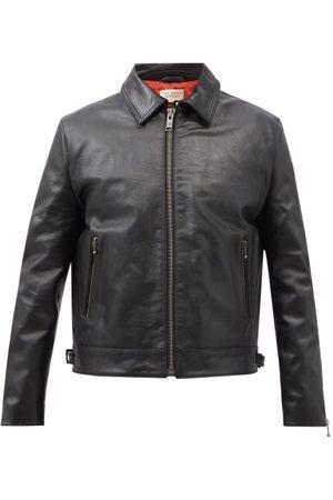 Nudie Jeans Eddy Padded Leather Jacket - Mens