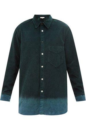 NICK FOUQUET Theirry Longline Ombré-corduroy Shirt - Mens