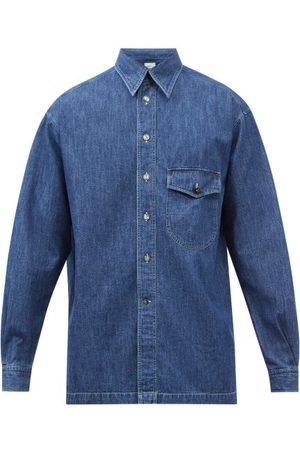 L.E.J Washed Denim Shirt - Mens - Indigo